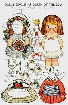 i ordered lola a vintage dolly dingle paper doll book today.  she loves her crappy disney princess paper dolls, so i wanted to get her some real paper dolls.