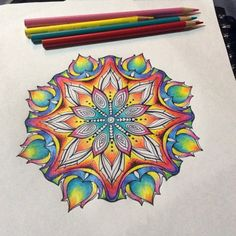 "nightsisters: ""Been busy with another mandala this morning, cruising through this one and hoping to have it finished up this afternoon. Super excited to get some stickers of all the new mandalas up on my etsy soon 🎨✏️✌️ Mandala Art, Croquis Mandala, Mandala Doodle, Design Mandala, Henna Mandala, Mandalas Painting, Mandalas Drawing, Mandala Coloring Pages, Zen Doodle"