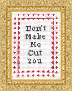 I'm so getting this pattern and making it for @Angela Duganthis is a good mantra for my craft attic space :)