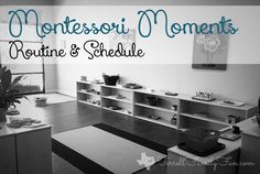 An Example of a Montessori Routine, Schedule and Daily Activities