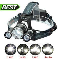 Waterproof Headlight Super Bright Head Torch LED USB Headlamp Camping Outdoor UK