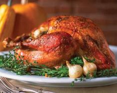 Gluten-Free Glazed Roasted Turkey - tangy spices and mixture of maple syrup and cider vinegar make this glaze for a succulent gluten free turkey.