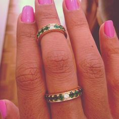 More Emerald rings with diamond in the center. Mukhi Sisters, Jewellers souks- Beirut Souks. info@mukhisisters.com