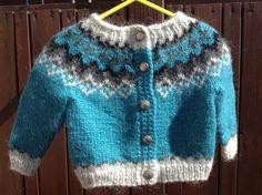 Made to order Icelandic sweater baby cardigan sweater handknit unisex Icelandic wool lopapeysa infant lopi months Icelandic Sweaters, Warm Sweaters, Baby Cardigan, Sweater Cardigan, Baby Knitting Patterns, Hand Knitting, Sweater Making, Handmade Shop, Retro