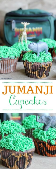 Jumanji cupcakes for all the Jumanji fans out there to celebrate the new Jumanji: Welcome to the Jungle movie. They're so fun to make! New Birthday Cake, Homemade Birthday Cakes, Homemade Desserts, Birthday Cupcakes, Happy Birthday, Wedding Cupcakes, Birthday Bash, Husband Birthday, Birthday Wishes