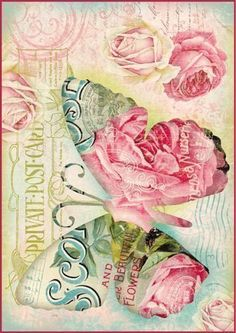 Papier do decoupage Stamperia - Papier ryżowy Decoupage Vintage, Vintage Diy, Vintage Labels, Vintage Ephemera, Vintage Cards, Vintage Paper, Vintage Postcards, Vintage Images, Butterfly Images