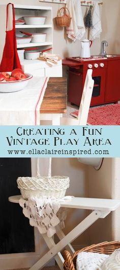 A Repurposed Vintage Play Area~ Details, Tips, Tricks, Paint Colors