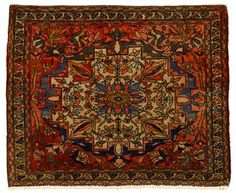 Sarouk Fereghan mat   west persia, circa late 19th century    2 ft. 7 in. x 2 ft. 3 in.  - FREEMAN'S