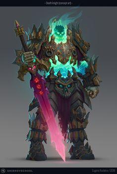 ArtStation - Death knight concept, Eugene Rudakov
