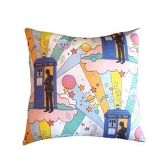 Tardis 14 x 14 inch Pillow Cover Mod Style