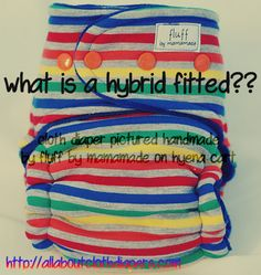 Finally a way to go coverless and show off cute fitted cloth diapers without getting the couch (or your lap) wet!
