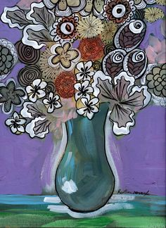 Heather Renaux bouquet painting