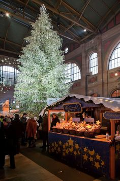 Christmas in Zurich Central Station, Switzerland