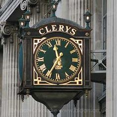 Dublin Clery's department store old clockphoto from the archive of Aidan O'Rourke Tutor Photographer Manchester Liverpool Old Pictures, Old Photos, Vintage Photos, Photo Engraving, Dublin City, Old Clocks, Dublin Ireland, Department Store, Wonders Of The World