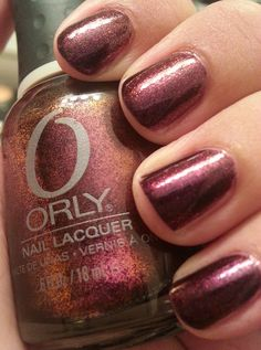Orly Rococo A-Go-Go! This polish is described as metallic deep purple and is part of Orlys Mineral FX collection.