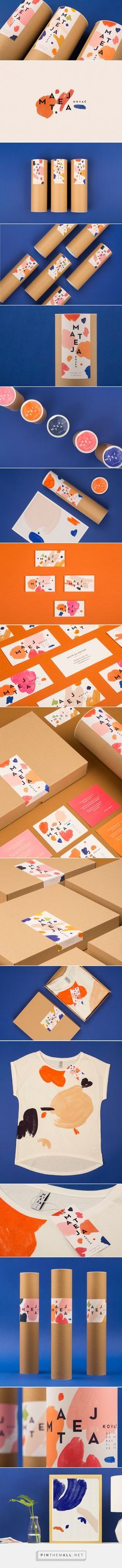 MATEJA KOVAČ / Visual identity on Behance Love the colors and bold pattern use in the brand identity