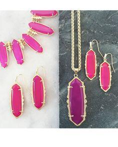 Fran Earrings in Pink Agate - Kendra Scott Jewelry