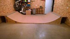 ~ View topic - another garage mini ramp! ~ View topic - an Scooter Ramps, Bmx Ramps, Scooter Scooter, Mini Skate, Skate Ramp, Skateboard Room, Skateboard Ramps, Wood Shop Projects, Diy Furniture Projects
