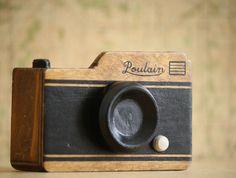 Wood Camera Tape Dispenser