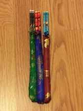 3 pairs Chinese Traditional Bamboo Chopsticks with Silk Packaging 9.5''