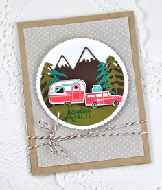 Adventure Awaits Card by Dawn McVey for Papertrey Ink (June 2015)