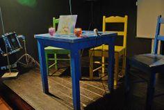 A mesa da apresentação