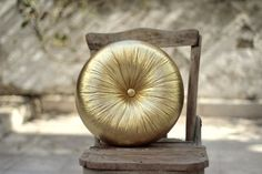 Gold Round pillow 16 by fulyad on Etsy