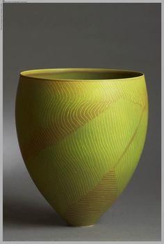 Chartreuse pottery / Pippin Drysdale #ceramics #pottery