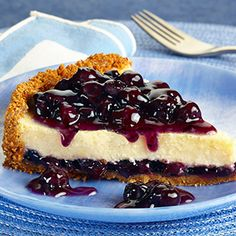 Blueberry Cheesecake Pie: Enjoy a tantalizing Blueberry Cheesecake Pie, made with Duncan Hines Comstock® or Wilderness® Blueberry Filling.