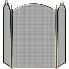 1  Uniflame Solid Brass Premium Fireplace Screen