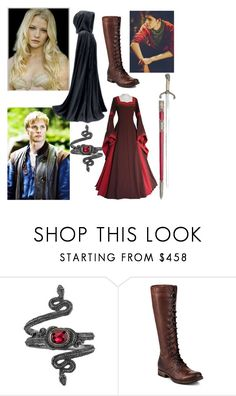 """OC: Lady Iraina of Caerleon"" by hecate-m00n ❤ liked on Polyvore featuring Michael Barin and Frye"