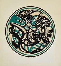 Untitled (1992) by Art Thompson, Nuu-chah-nulth (Ditidaht) artist (AT1992-01)