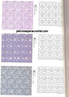 200 patrones crochet de puntos ✅ Knitting Stiches, Free Knitting, Crochet Stitches, Knitting Patterns, Crochet Patterns, Crochet Instructions, Crochet Diagram, Crochet Motif, Crochet Placemats