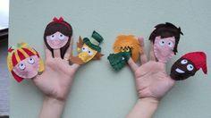Conjunto com 06 dedoches dos personagens do Sítio do Picapau Amarelo.  Confeccionados em feltro.  Peça também outros personagens do mesmo tema.