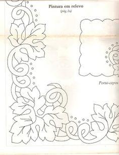 Raquel Art Pintura: Pintando e bordando!!