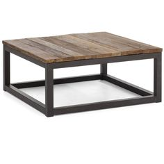 Metal and wood coffee table  (http://www.zinhome.com/civic-wood-and-metal-square-coffee-table/)