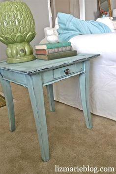 I just made this diy chalk paint and loved it so much that I did my whole new apartment bedroom furniture! worked great and saves money too!