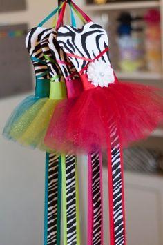 Beautiful & Fun Tutu Dress Bow Holder $14.99 #shimmyshimmy
