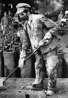 Margaret Bourke-White - Russian iron worker, Stalingrad, 1930.