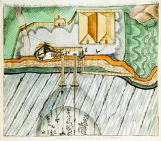 Landscape - Illustration - Aerial view - Farming operations