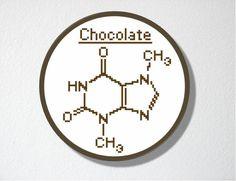 Chocolate Molecule Cross stitch Pattern PDF by CharlotteAlexander Counted Cross Stitch Patterns, Cross Stitch Embroidery, Embroidery Patterns, Hand Embroidery, Buch Design, Cross Stitching, Needlepoint, Needlework, Inspiration