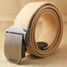 Hot NOS Men Canvas Belt Military Equipment Cinturon Western Strap Men/'s Belts Lu