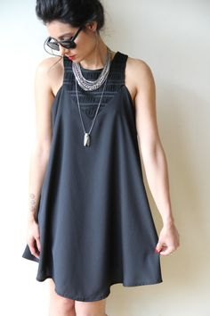 Black Midi Dress / Sexy Sleeveless Dress / Casual by PizkaFashion
