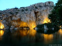 Lake Vouliagmeni, Greece.  Yep, been there.  It is where the Dr. Fish actually live (versus in fish tanks in the day spa in Athens resigned to a life of eating the dead skin off of silly tourists).