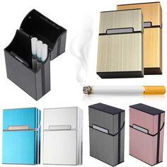 Сигары портсигар легкий алюминиевый сигар табак держатель Карманный Box Контейнер для хранения LS
