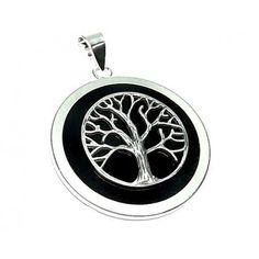 Colgante plata piedra árbol de la vida