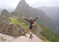 La marathon Inca. Courir jusqu'en haut des ruines du Machu Pichu au Pérou.