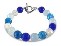 Blue Sapphire, Aquamarine, Moonstone, Turquoise,  Turquoise Crackled Czech Glass…