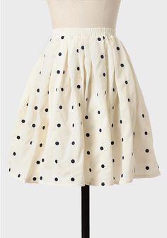 Deborah Polka Dot Skirt In Cream