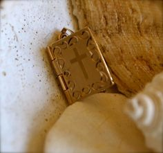 14K Gold Bible Locket With Gold Chain by HavenBoutique on Etsy, $65.00